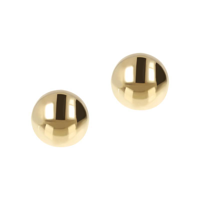 "Bellezza Bronze Polished Round Bead Stud Earrings - 3/8"""