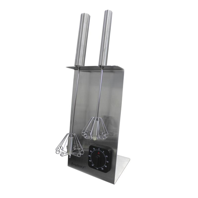 """BergHOFF® 16.5"""" 18-10 Stainless Steel Whisk Stand & Timer Set - Silver"""
