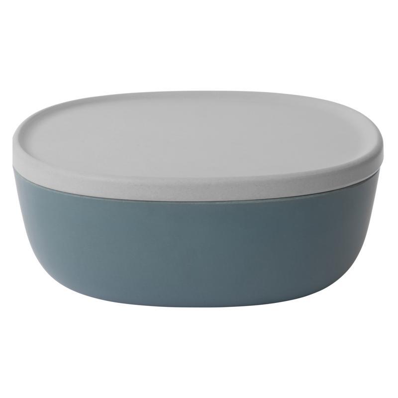 "BergHOFF Leo 10"" 3-Quart Blue Bamboo Covered Bowl"