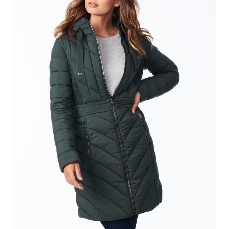 Bernardo EcoPlume Packable Hooded Walker Jacket