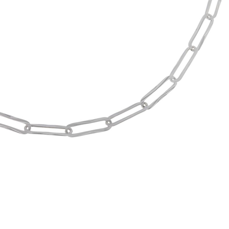 """Bianca Milano 18"""" Sterling Silver Paperclip Link Chain Necklace"""