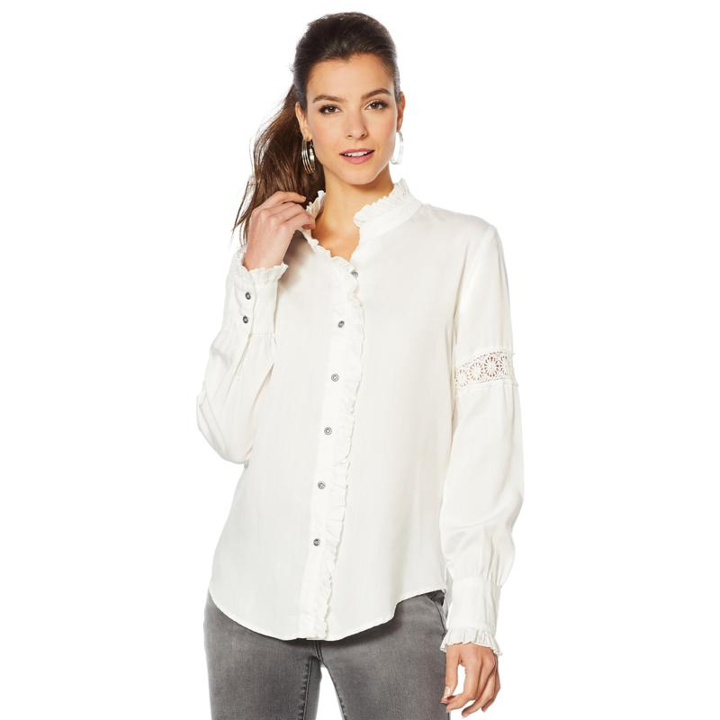 Billy T Ruffled High-Neck Top
