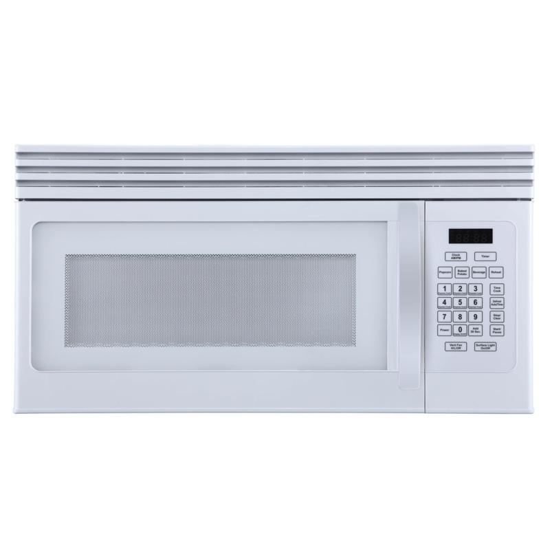 Black+Decker 1.6-Cu.Ft. Over-the-Range Microwave w/ Air Vent, White