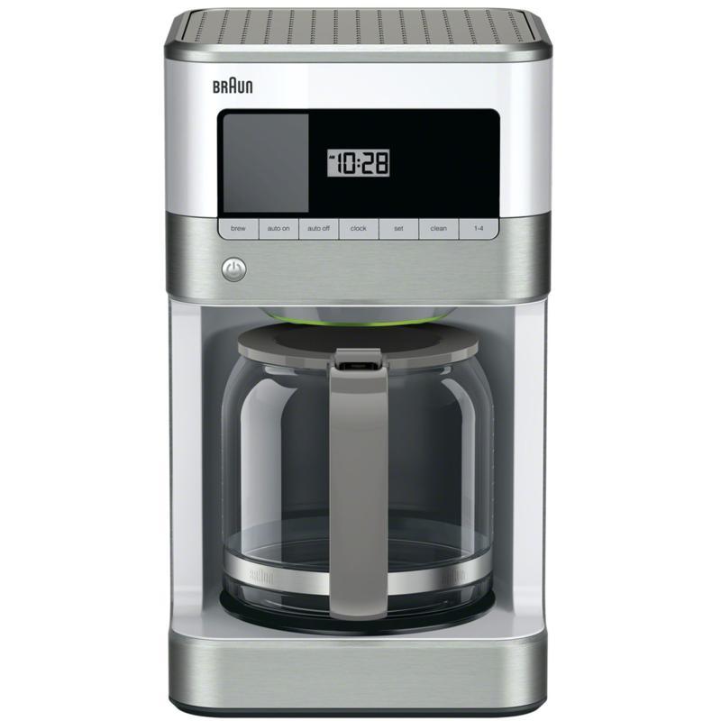 Braun BrewSense 12-Cup Drip Coffee Maker in Stainless Steel/White