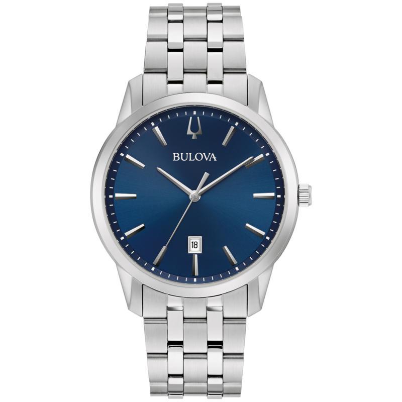 Bulova Men's Stainless Steel Blue Dial Bracelet Watch