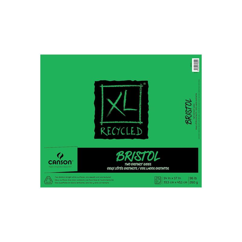 """CANSON XL Recycled Foldover Bristol Pad of 25 Sheets 14"""" x 17"""""""
