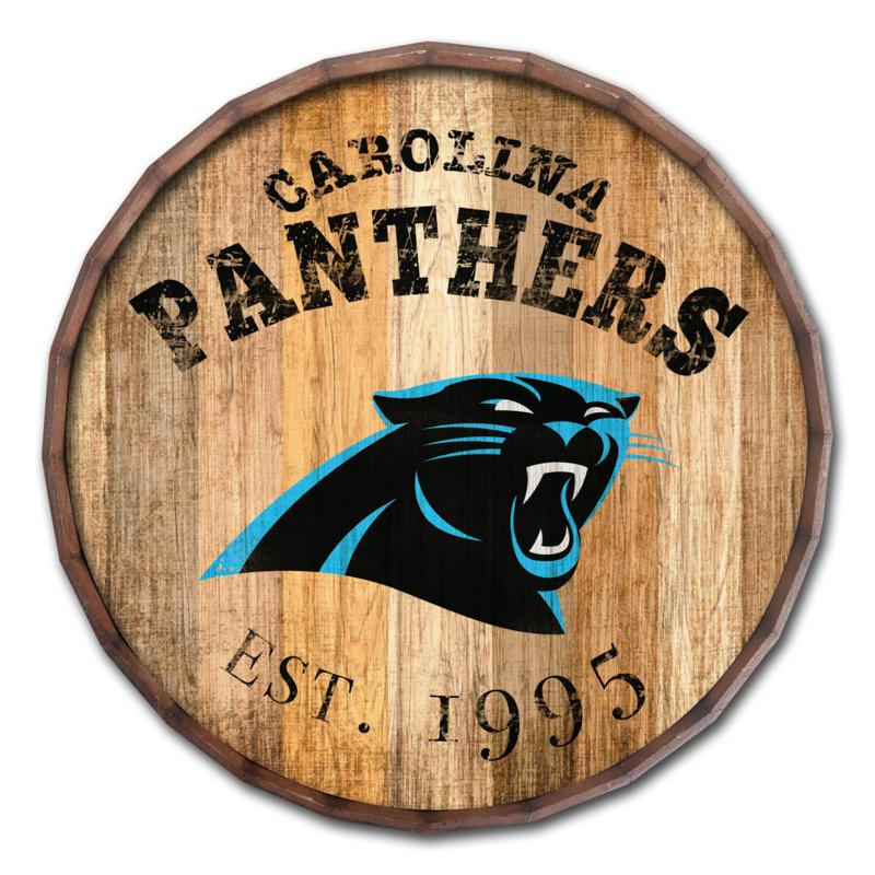 "Carolina Panthers Established Date 24"" Barrel Top"