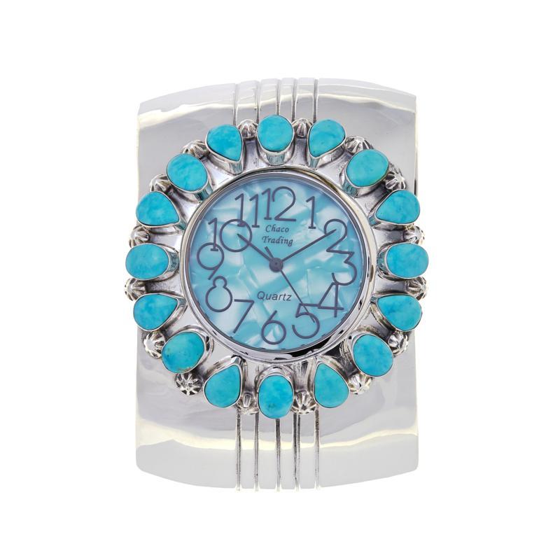 Chaco Canyon Kingman Turquoise Cuff Watch