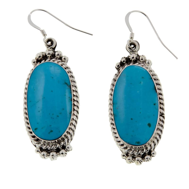 Chaco Canyon Kingman Turquoise Sterling Silver Earrings