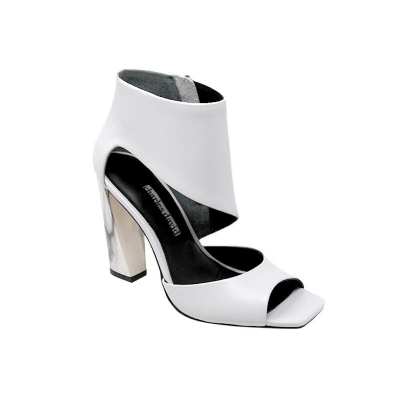 Charles David Volution Leather Block-Heel Sandal