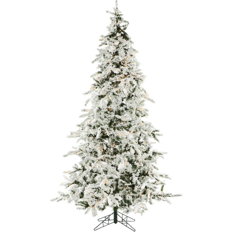 Christmas Time 7.5' Snowy Artificial Christmas Tree w/ Smart Lights