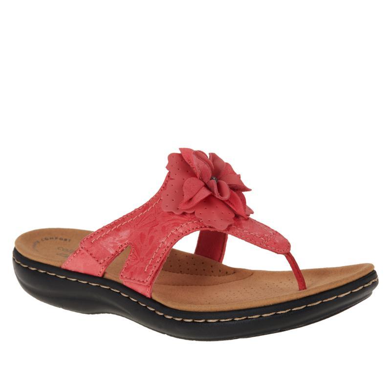 Clarks Collection Laurieann Gema Floral Toe-Post Sandal