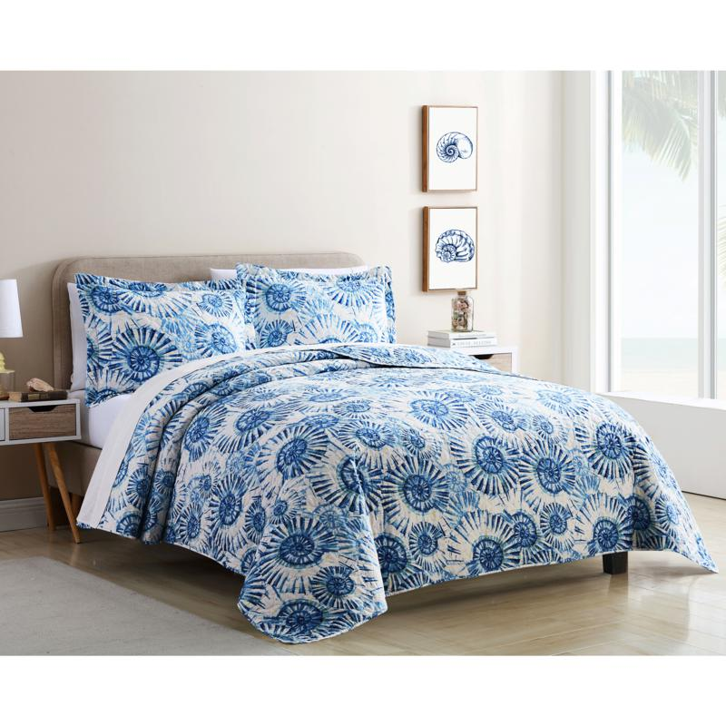 Coastal Inspired 3-piece King Quilt Set