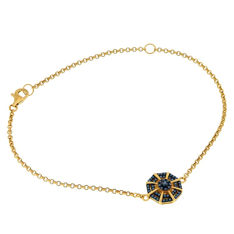 Colleen Lopez Gold-Plated .30ctw Colored Diamond Bracelet