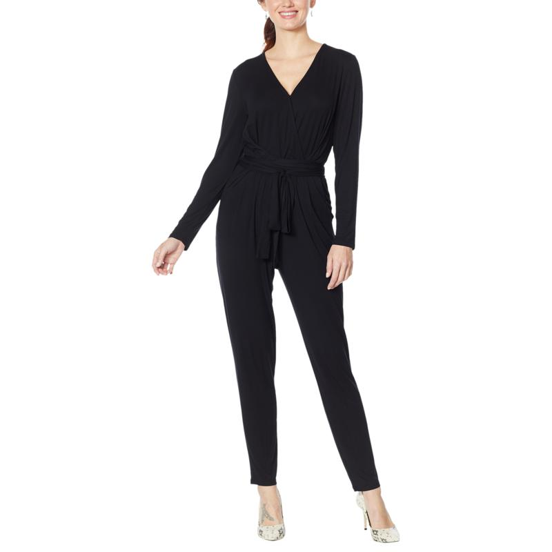 Colleen Lopez Long-Sleeve Wrap Front Jumpsuit