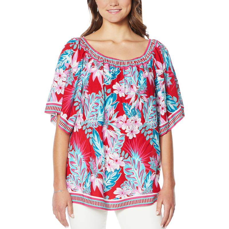 Colleen Lopez Mixed-Print Blouse