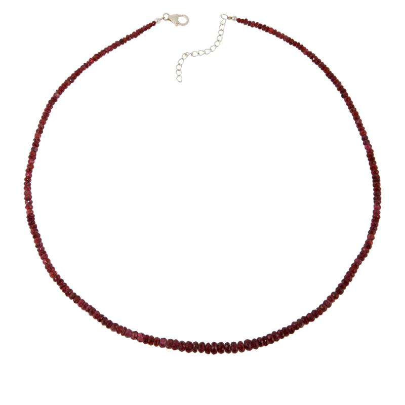 Colleen Lopez Red Spinel Beaded Necklace