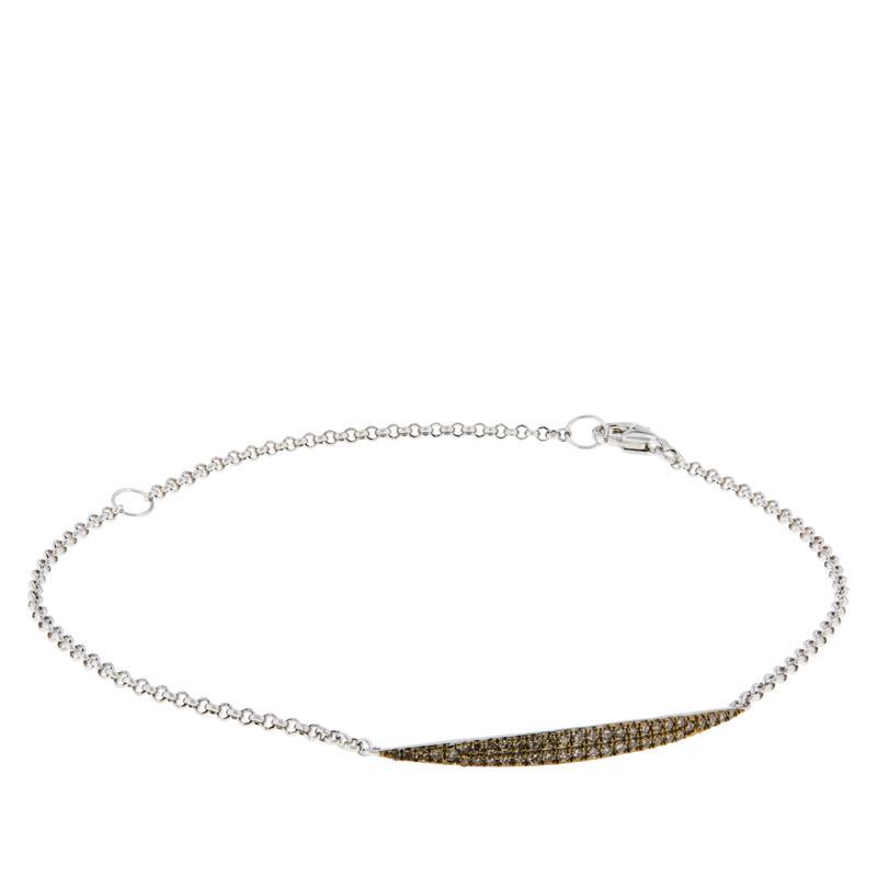 Colleen Lopez Sterling Silver 0.33ctw Diamond Bracelet