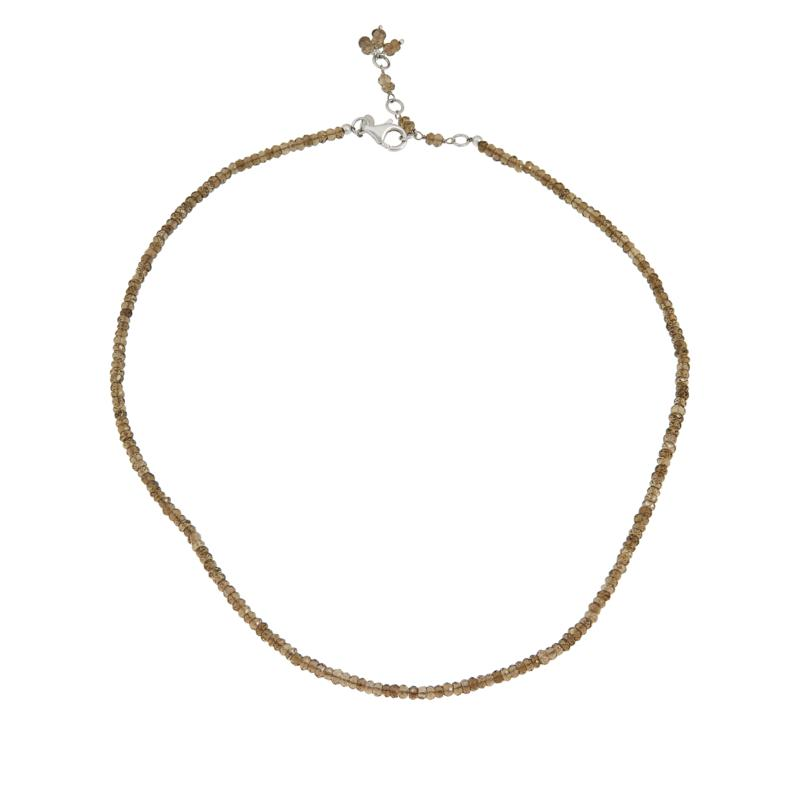 Colleen Lopez Sterling Silver Gemstone Bead Necklace