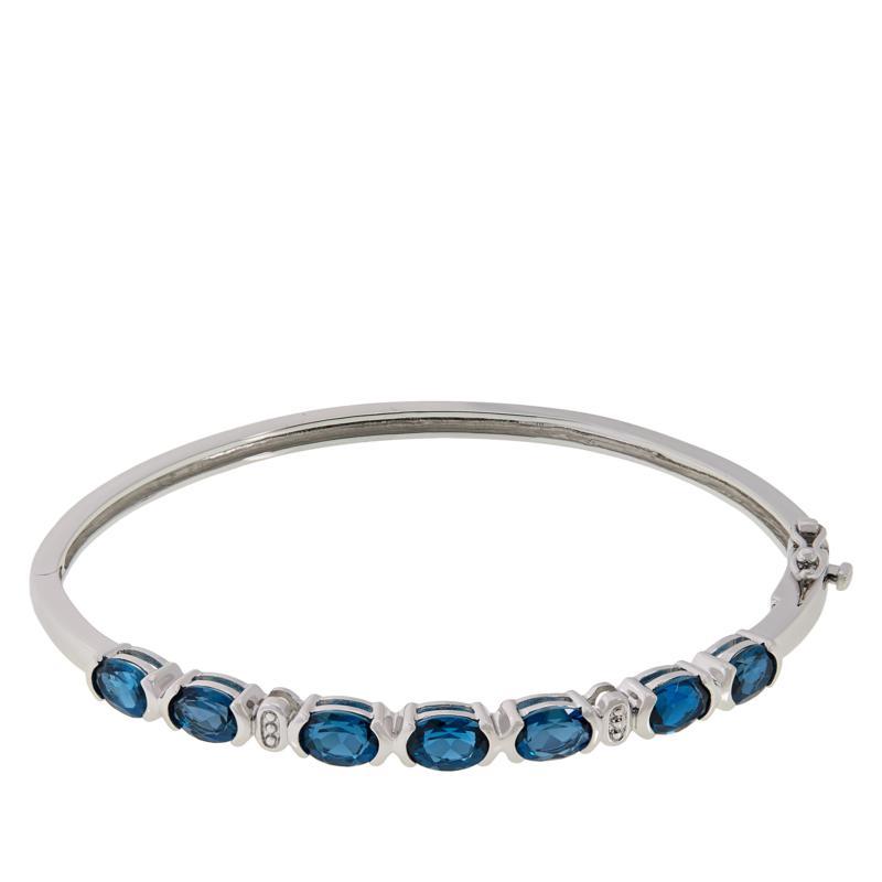 Colleen Lopez Sterling Silver London Blue Topaz Bangle