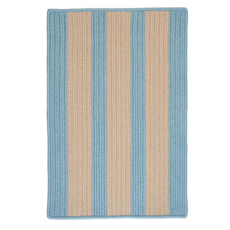 Colonial Mills Boat House 8' Square Rug - Light Blue
