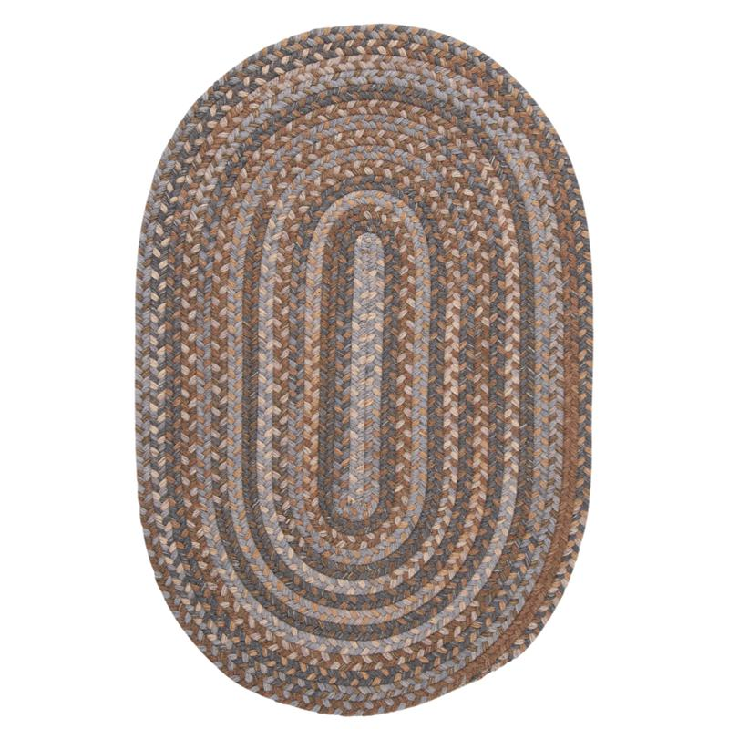 Colonial Mills Oak Harbour 8' Round Rug - Graphite
