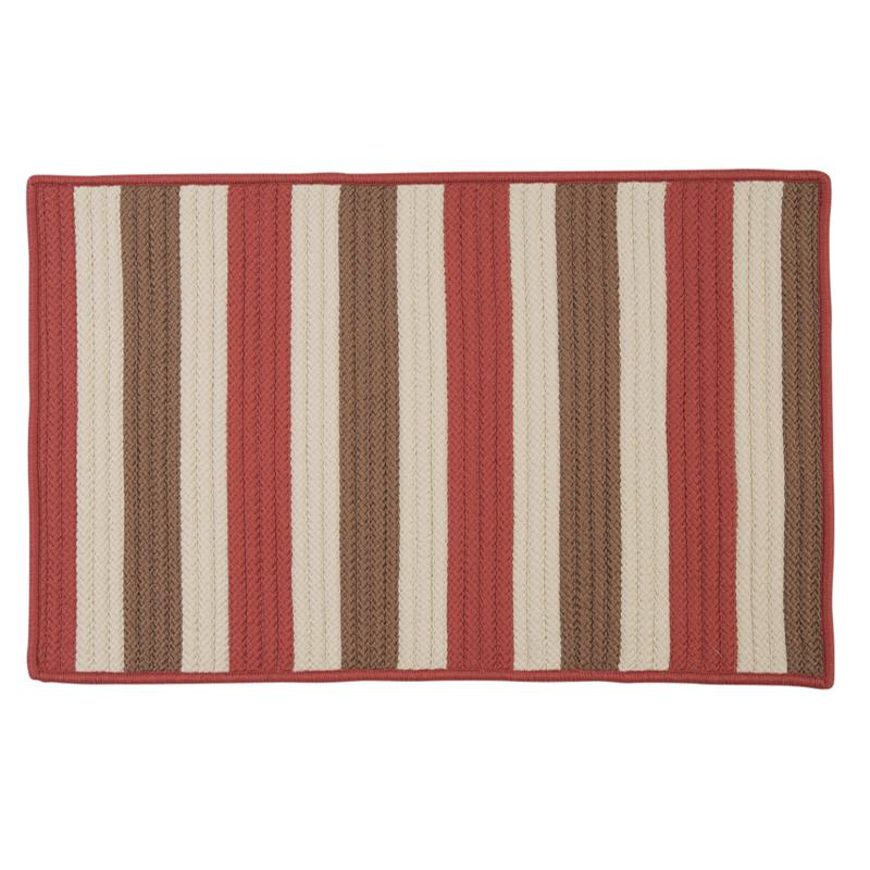 Colonial Mills Stripe It 8' x 11' Rug - Terracotta