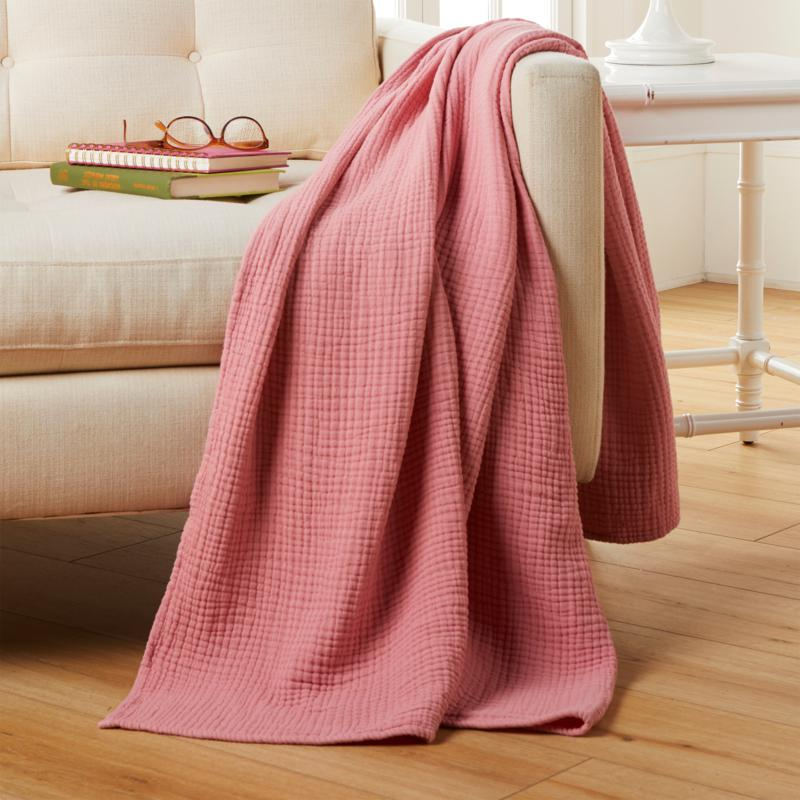 Concierge Collection 100% Cotton Waffled Gauze Vintage Throw