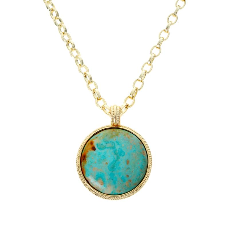 Connie Craig Carroll Jewelry Layla Green Turquoise Pendant Necklace