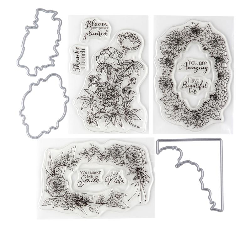 Crafter's Companion Blooming Beautiful Frame Stamp and Die Set