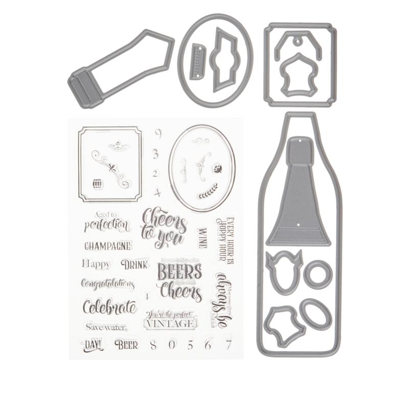 "Crafter's Companion ""Bottles Up"" Shaped Card Base Dies"