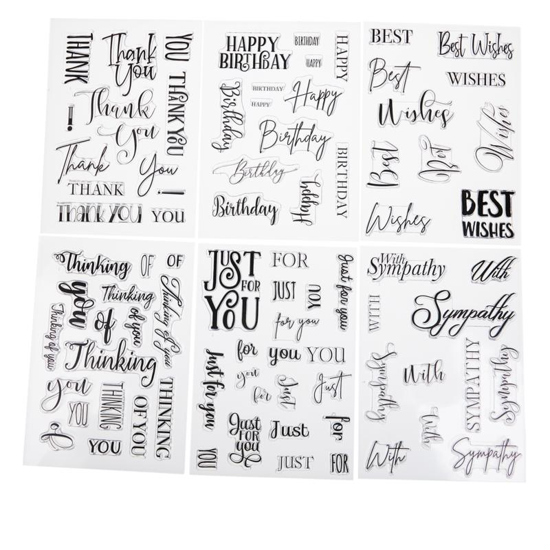 Crafter's Companion Clear Sentiment Stamps