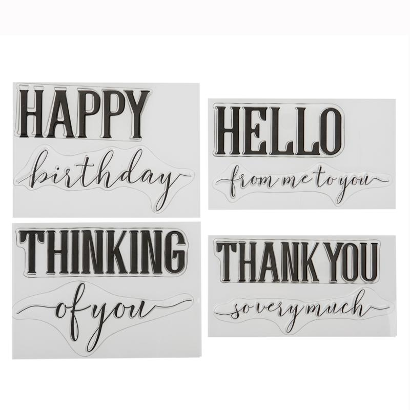 Crafter's Companion Everyday Sentiments Brush Stamp Set