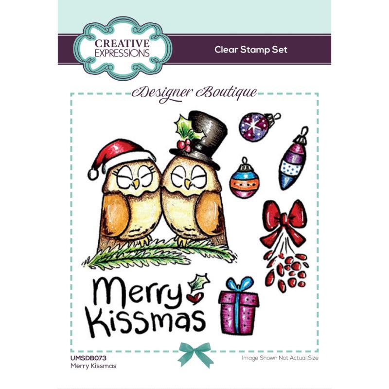Creative Expressions Designer Boutique Merry Kissmas A6 Stamp Set