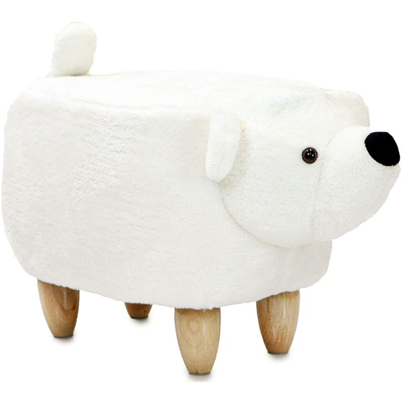 "Critter Sitters 14"" Plush Animal Ottoman - Polar Bear"