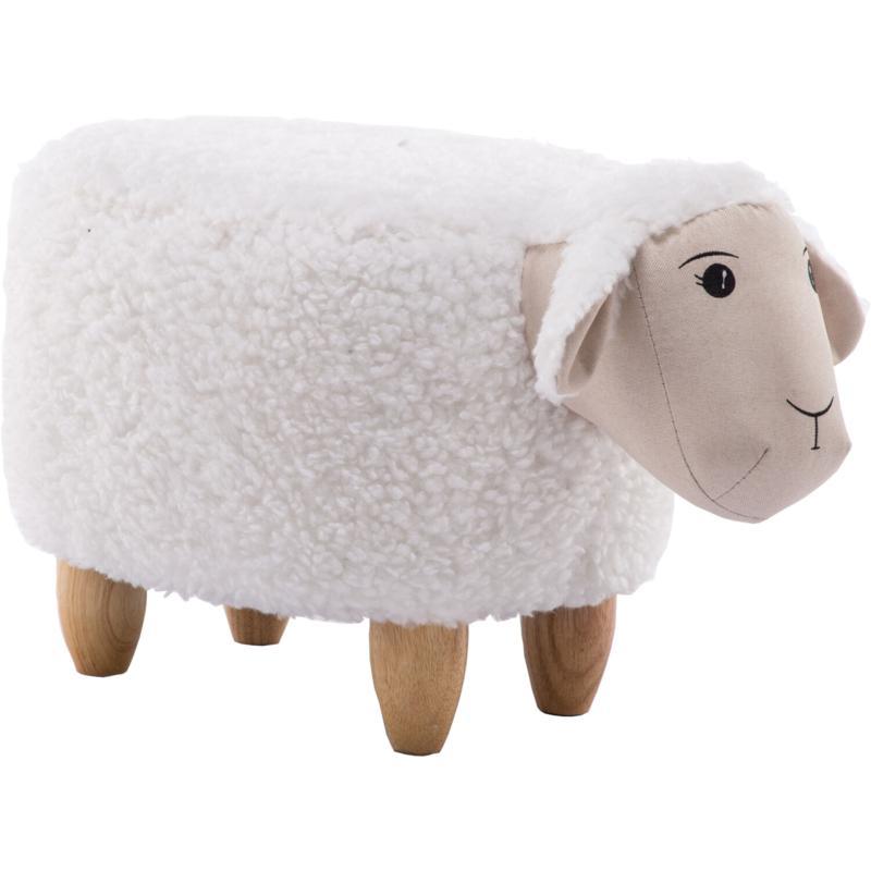 "Critter Sitters 15"" Plush Animal Ottoman - Sheep"