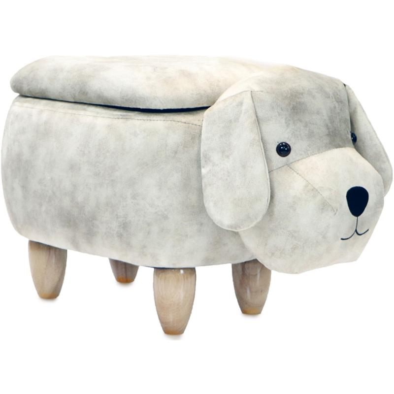 "Critter Sitters 15"" Plush Animal Storage Ottoman - Dog"