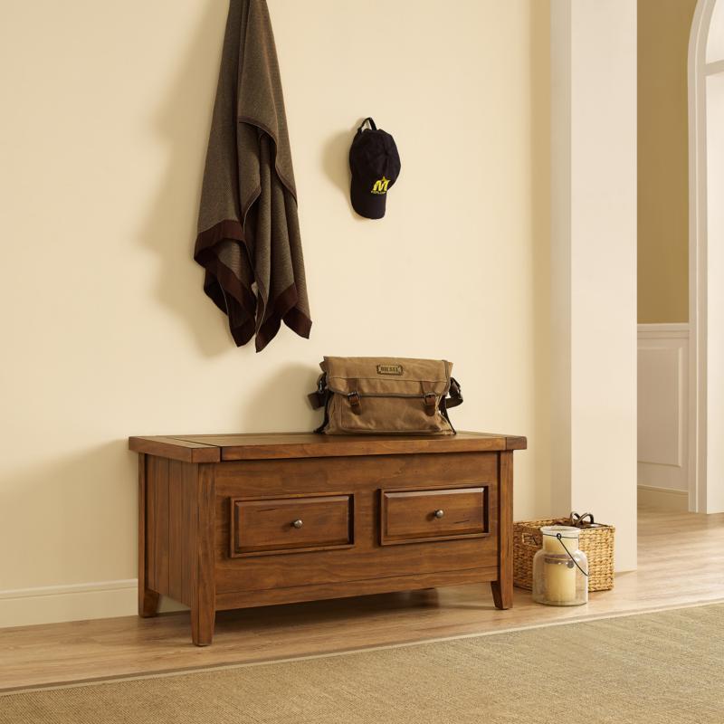 Crosley Furniture Sienna Storage Bench - Moroccan Pine