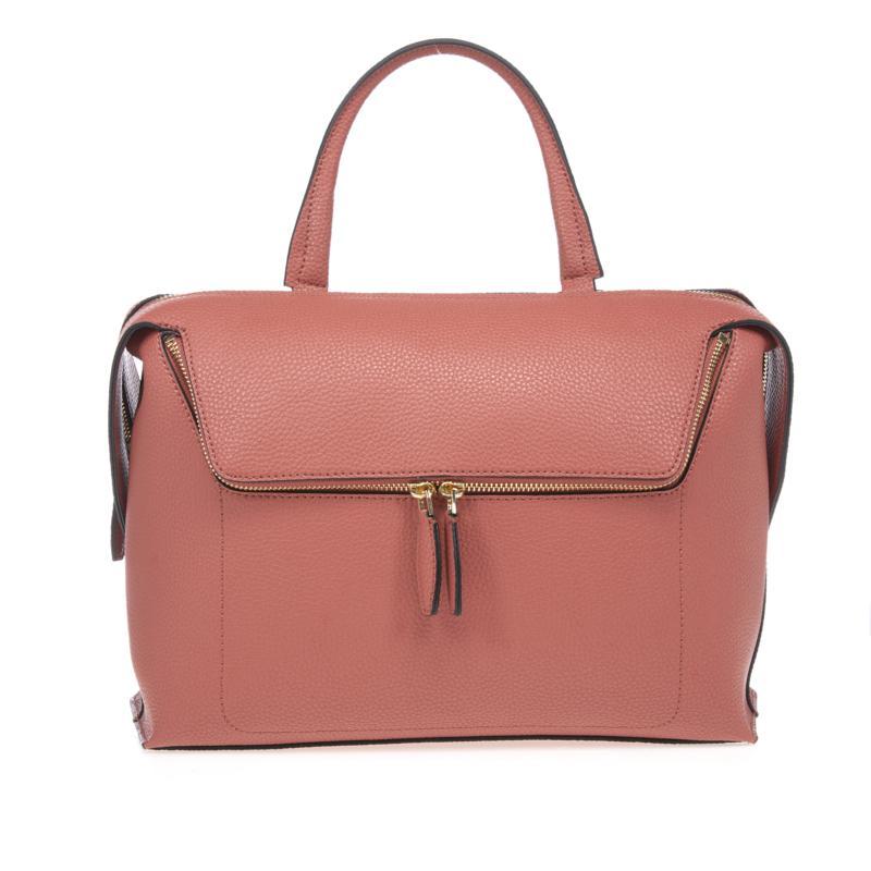 Danielle Nicole Large Zipper Pocket Leather Satchel