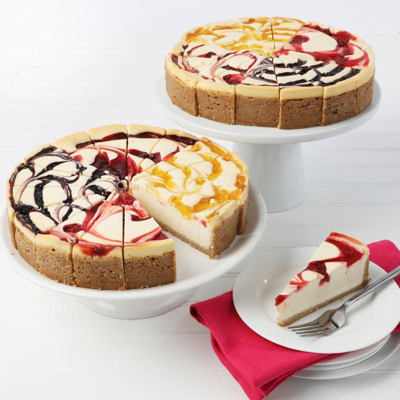 """David's Cookies Set of 2 10"""" 4.25 lb. Fruit Flavored Cheesecakes"""