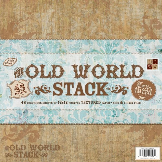 DCWV Paper Stack Premium Printed Cardstock - Old World