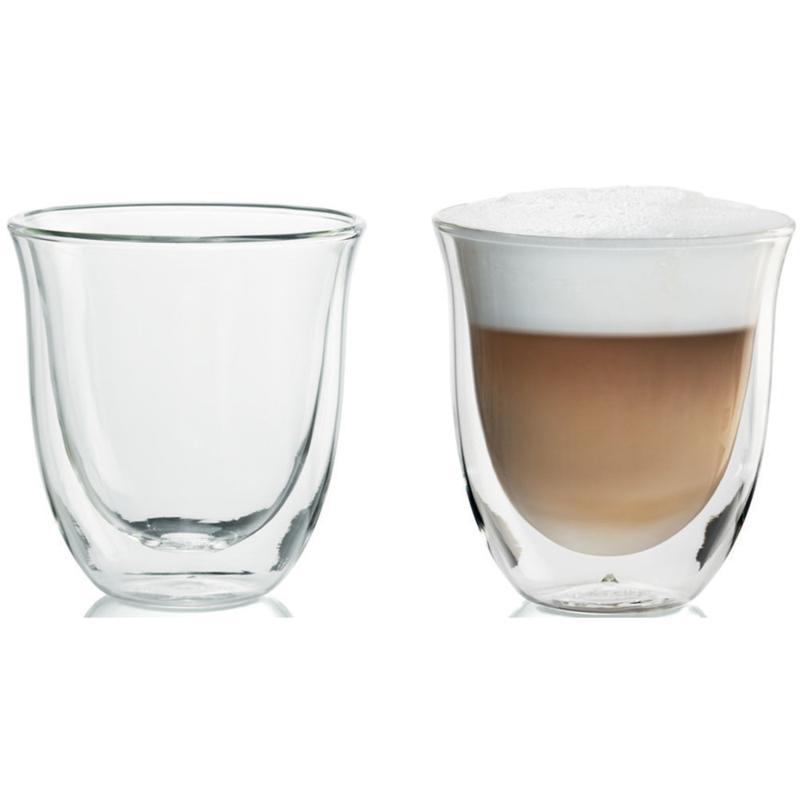 DeLonghi 6 oz. Cappuccino Glasses - Set of 2