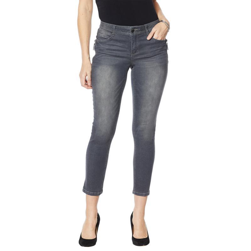 "Democracy ""Ab"" solution Gray Side Zip Skinny Jean"