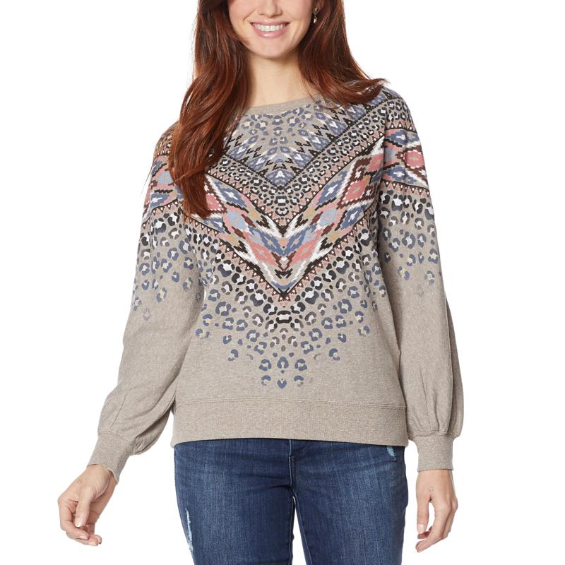 Democracy Aztec-Print Fashion Sweatshirt