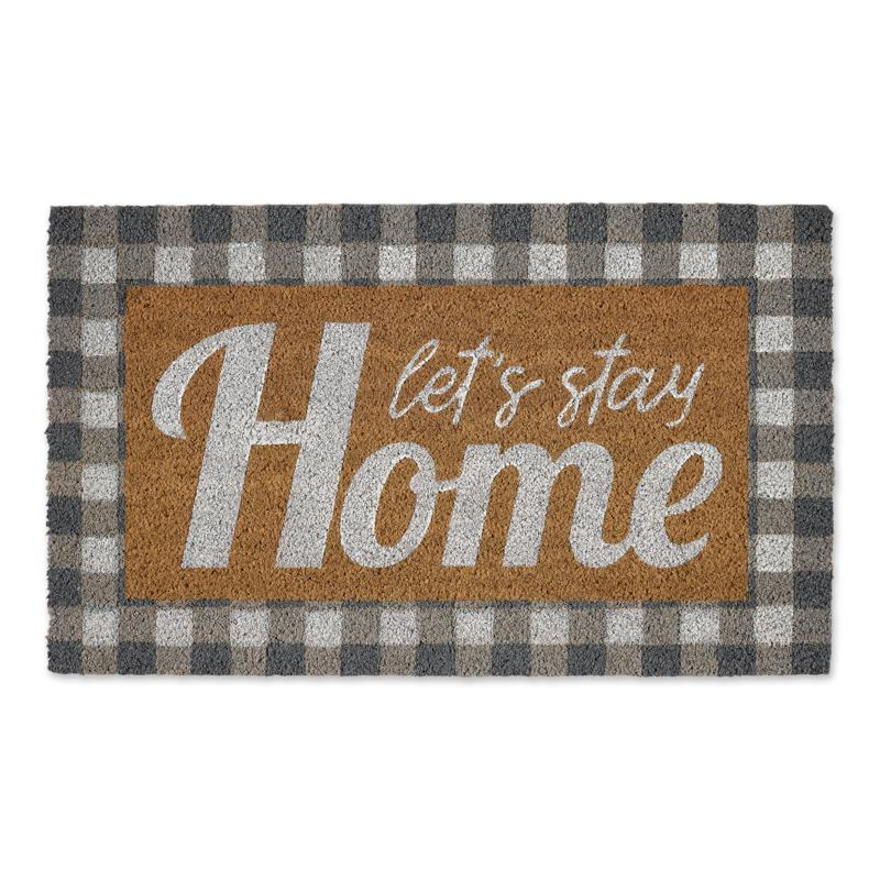 Design Imports Let's Stay Home Doormat