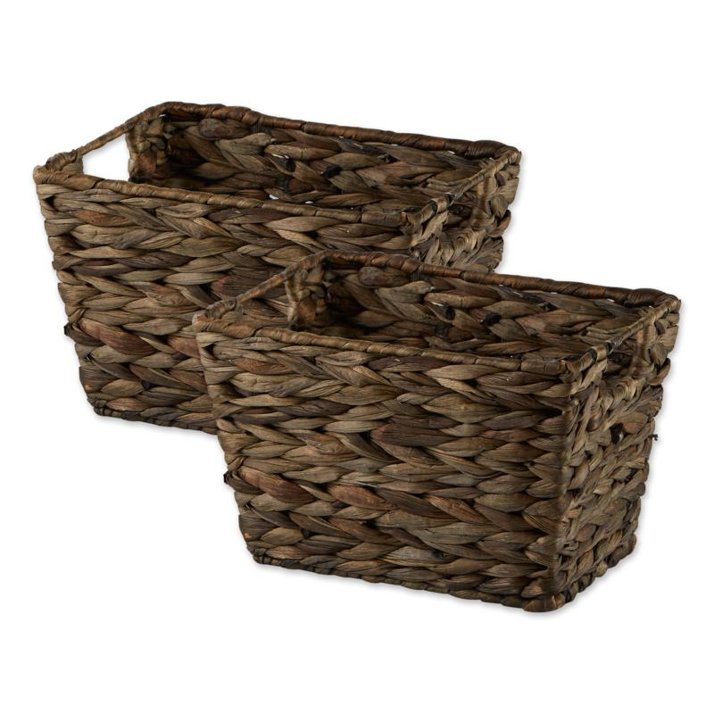Design Imports Medium Hyacinth Baskets 2-pack