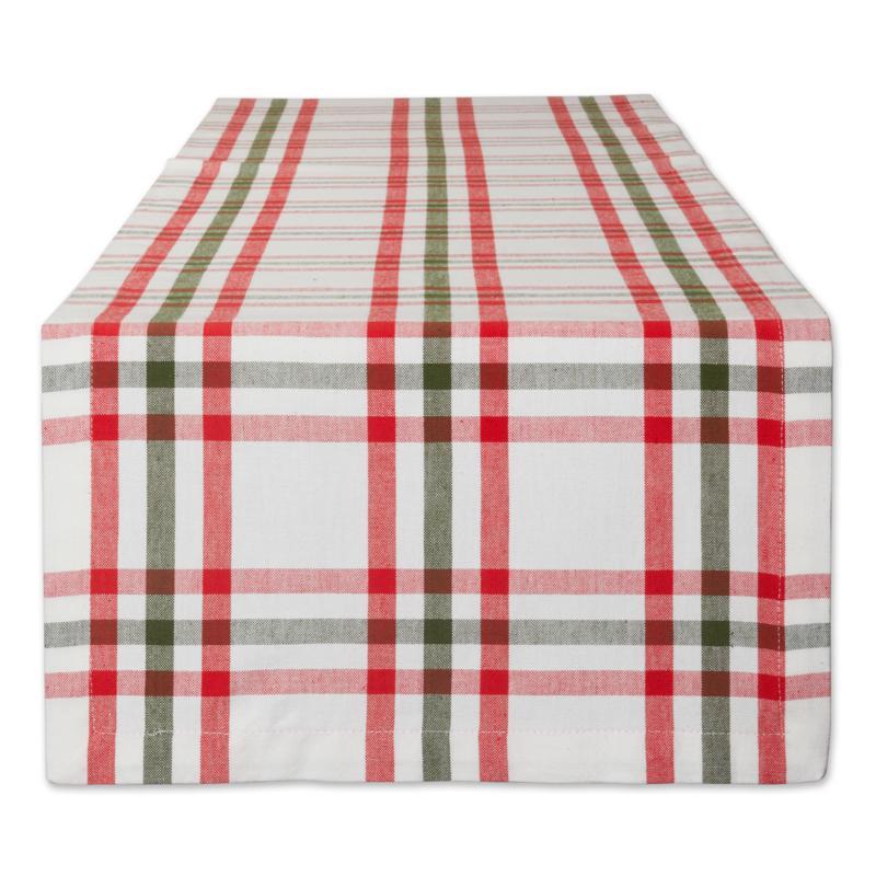 "Design Imports Nutcracker Plaid Table Runner - 14 x 108"""
