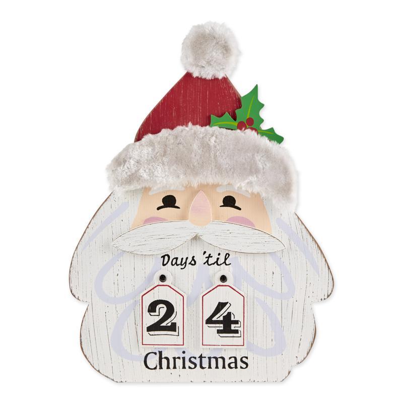 Design Imports Santa Head Days Til Christmas Hanging Calendar