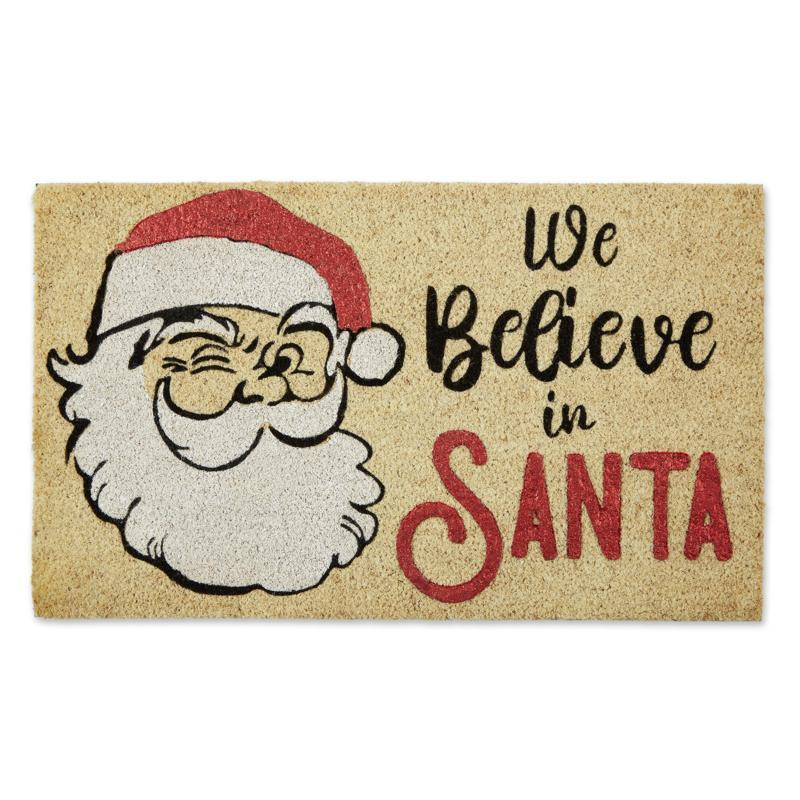 Design Imports We Believe In Santa Doormat