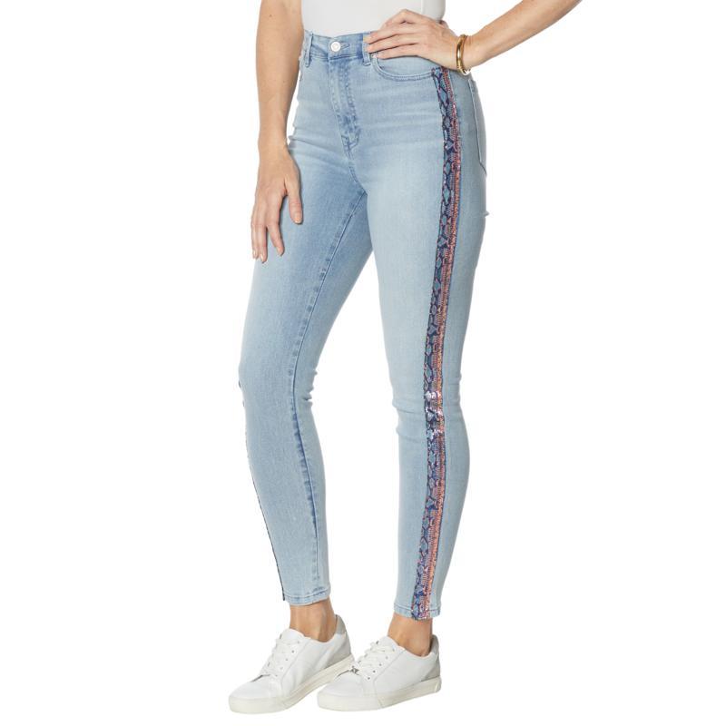 DG2 by Diane Gilman Classic Stretch Side Stripe Ultra Skinny Jean
